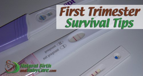 three pregnancy tests on first trimester survival tips page