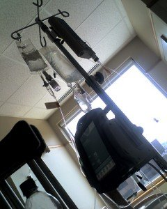 IV pole as a routine labor intervention