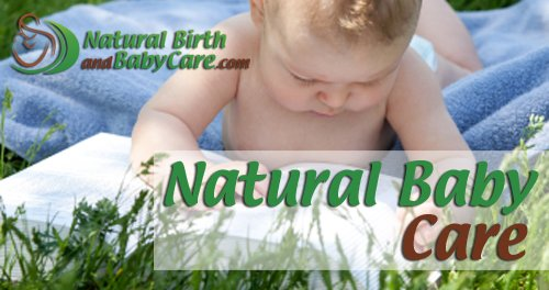 baby studying natural baby care in grass