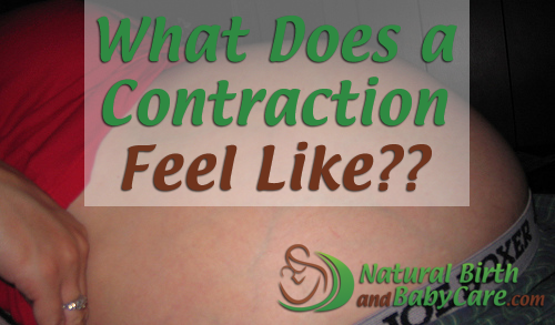 What Does a Contraction Feel Like Banner