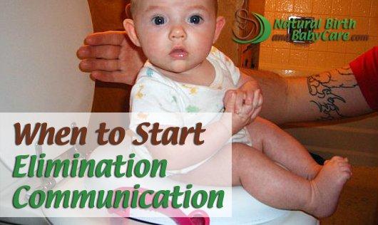 little one begins elimination communication after good head support