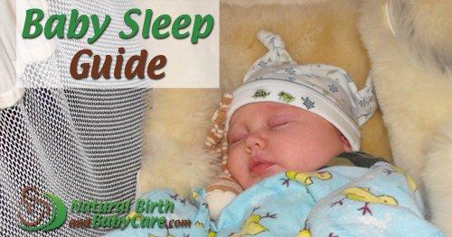 sleeping baby on baby sleep guide banner