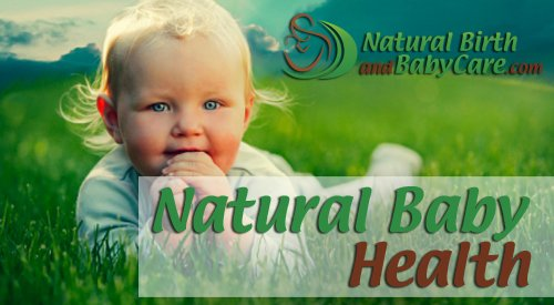Naturally healthy baby smiling on banner picture