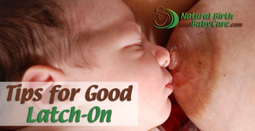 banner showing baby preparing for good-latch on and nipple sandwich