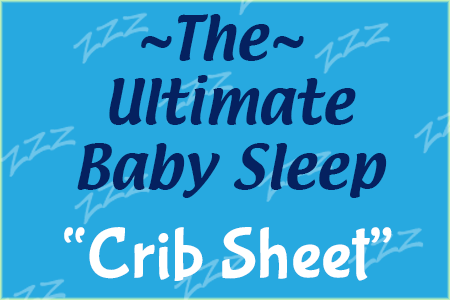 ultimate baby sleep crib sheet