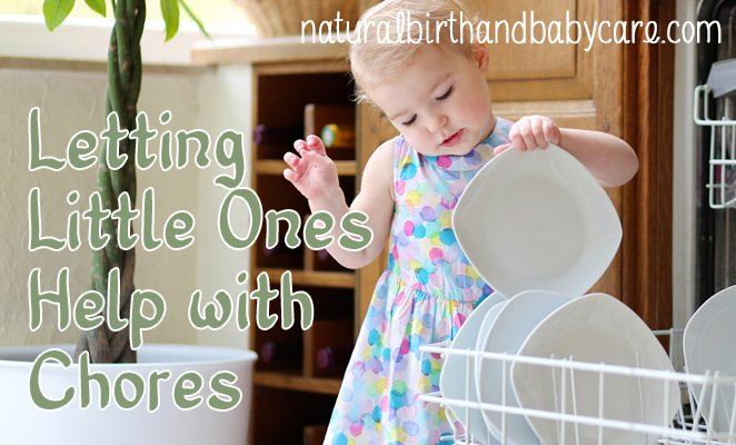 Letting Little Ones Help with Chores
