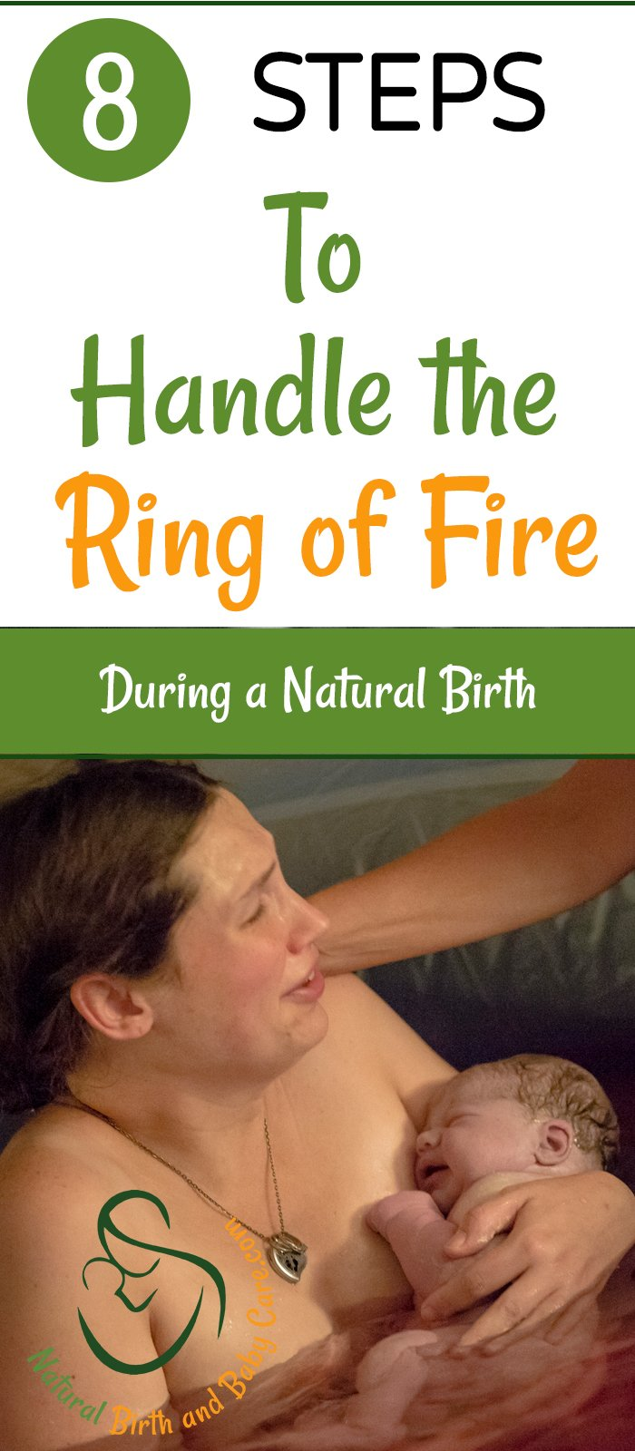 Mom holding baby after handling the ring of fire