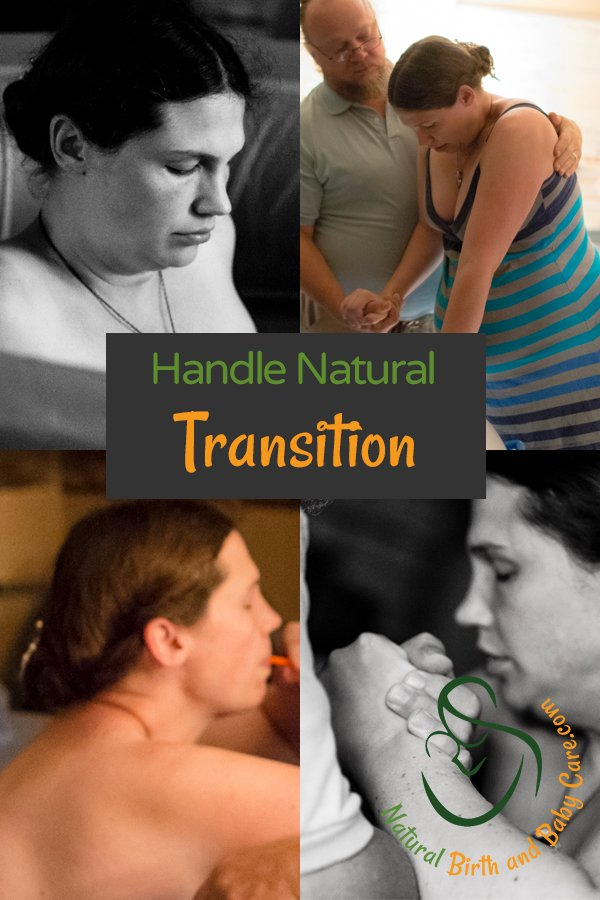 images of transition during natural childbirth